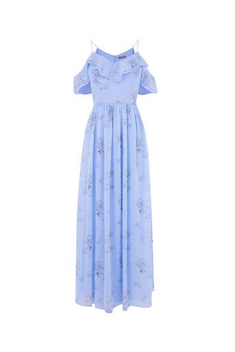 Oasis, DANDELION MAXI DRESS Multi Blue 0