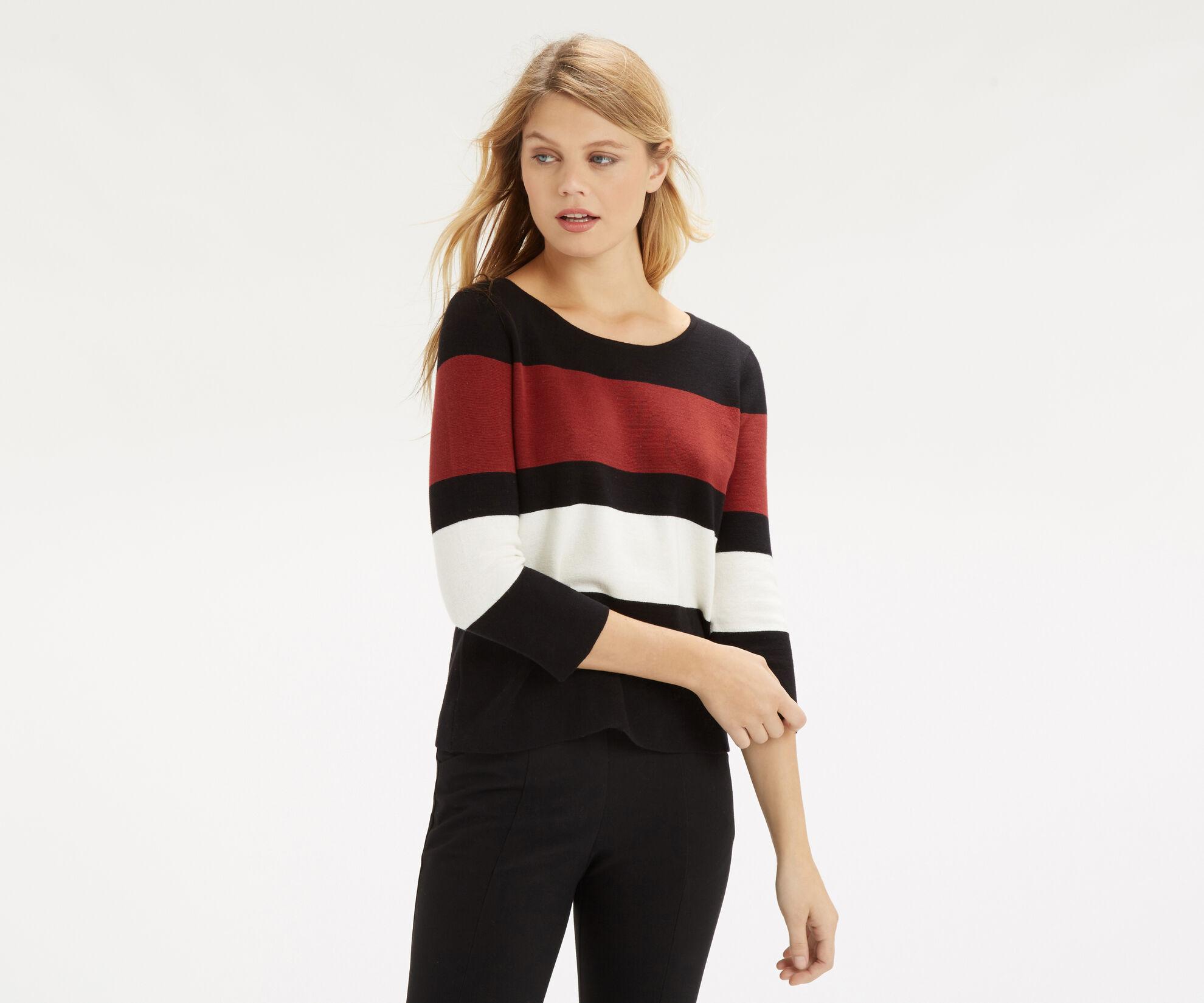 Oasis, Colour Block Crop Knit Multi 1