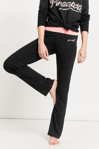 Oasis, Pineapple Straight Cut Trouser Black 1