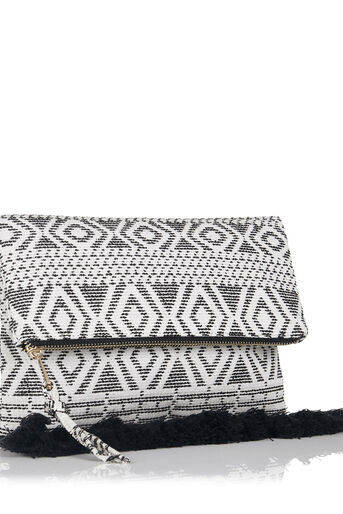 Oasis, Summer Aztec Clutch Black and White 2