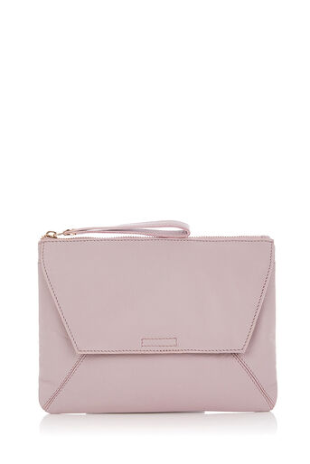 Oasis, LEATHER DEX CLUTCH Lilac 0