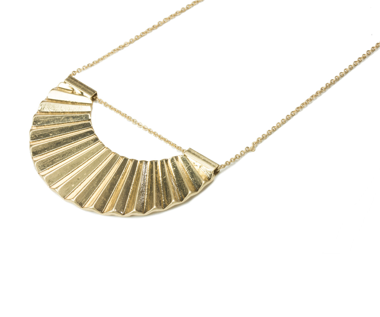 Oasis, CRESCENT DISC NECKLACE Gold 1