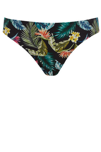Oasis, Miami tropical bikini bottom Black 0