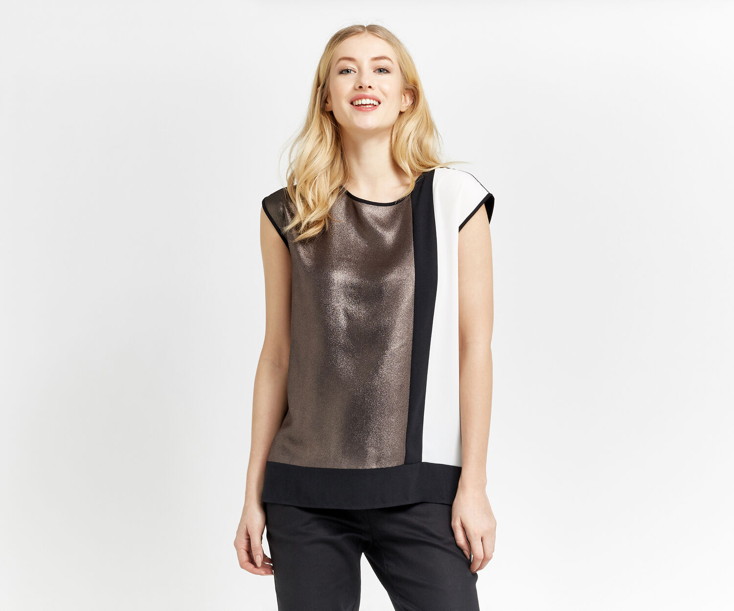 Oasis, PATCHED METALLIC T SHIRT Multi 1