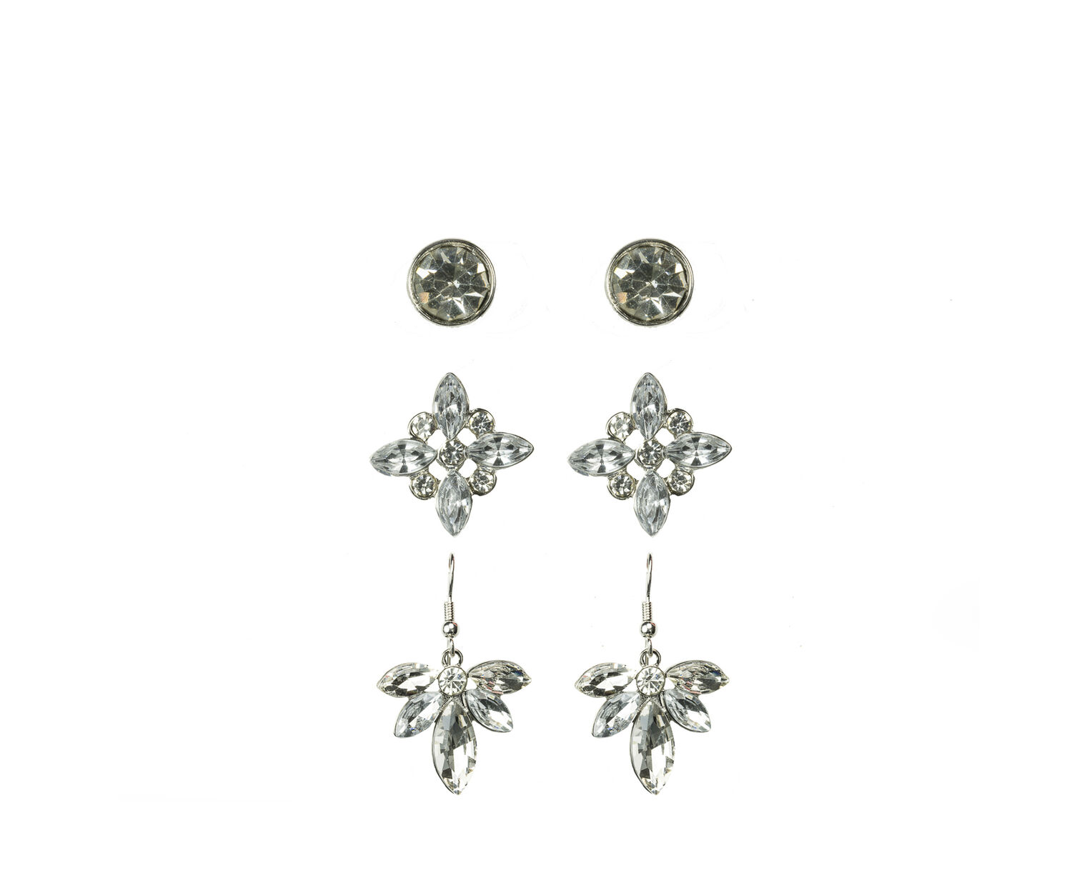 Oasis, SPARKLY EARRINGS PACK Crystal 1