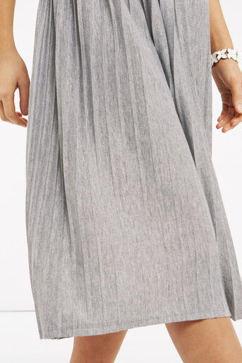 Oasis, Pleated Skirt Pale Grey 4