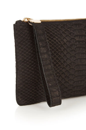 Oasis, LEATHER LILY SNAKE PURSE Black 1