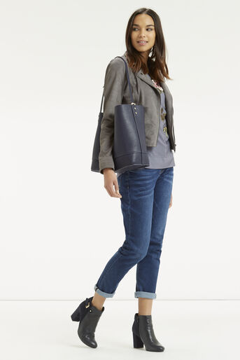 Oasis, Embroidered Opium Top Mid Grey 2