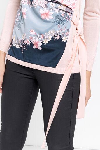 Oasis, Lotus Side Tie Top Pale Pink 4