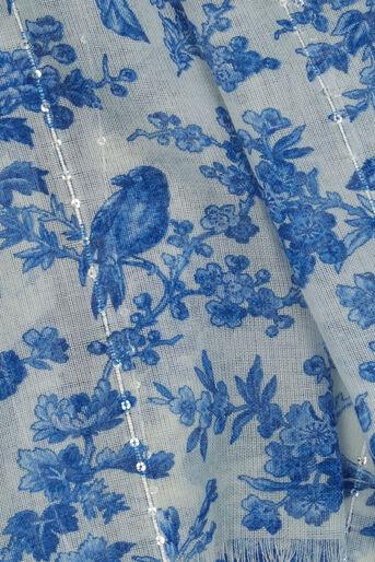 Oasis, Vintage Chintz Print Scarf Multi White 1
