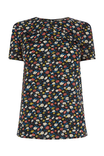 Oasis, Ditsy Print T-Shirt Multi 0