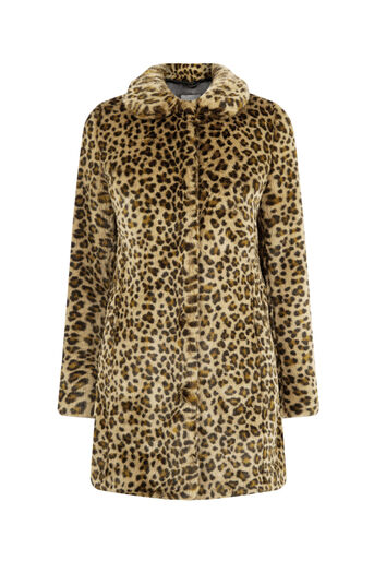 Oasis, ANIMAL FAUX FUR COAT Animal 0