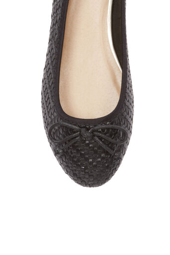 Oasis, Textured Ballerina Black 3