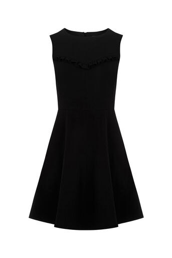 Oasis, FRILL DRESS Black 0