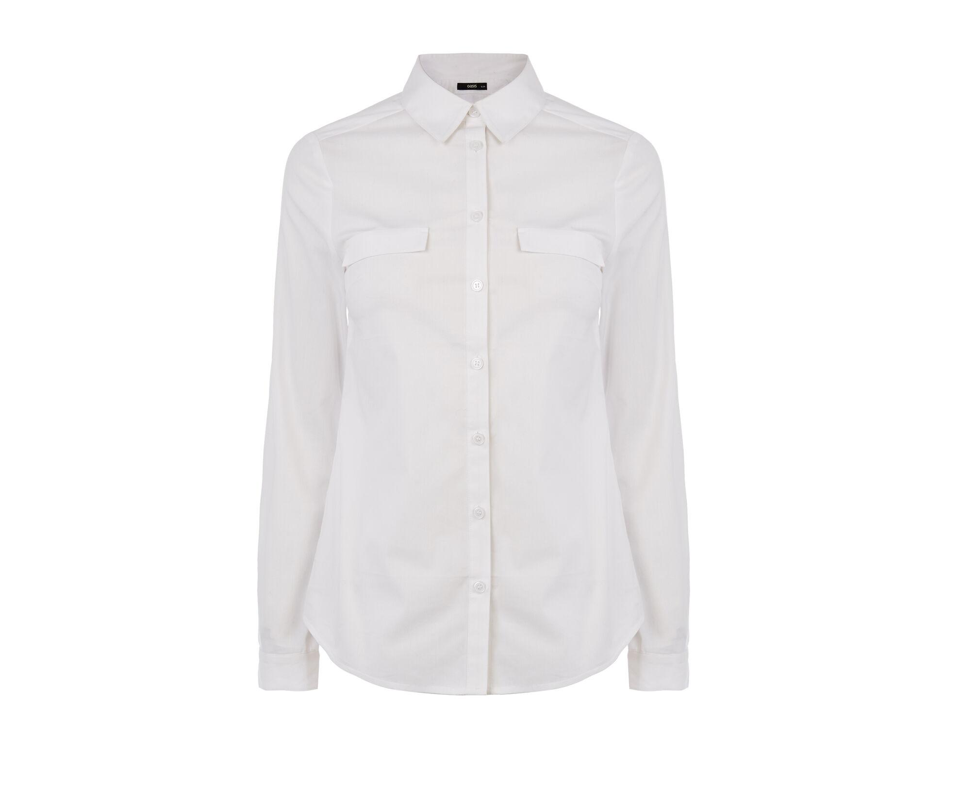 Oasis, Workwear Shirt White 0