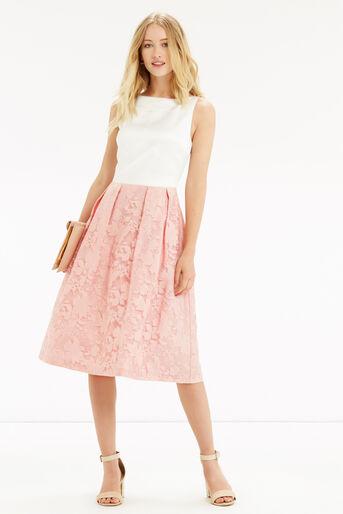 Oasis, Organza Midi Dress Multi Pink 2