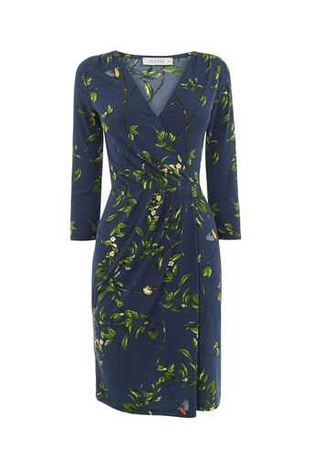 Oasis, FLORAL VINE WRAP DRESS Multi 0