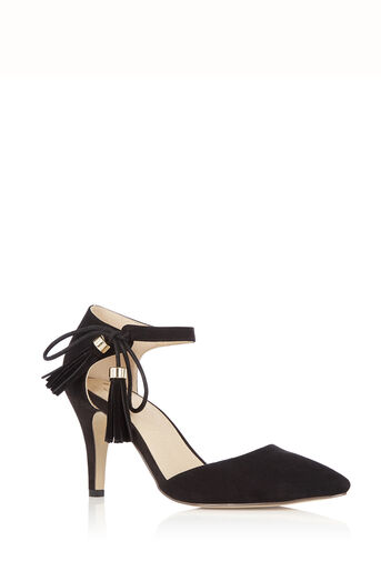 Oasis, Tilly Tassel Heel Black 0