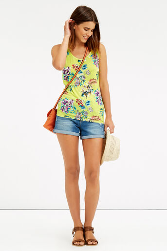 Oasis, Malay Tropical Print Vest Mid Yellow 2