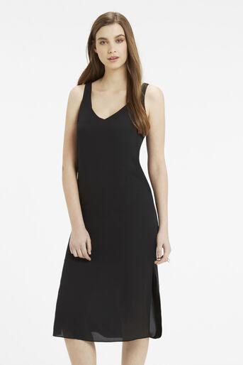 Oasis, V Neck Midi Dress Black 1