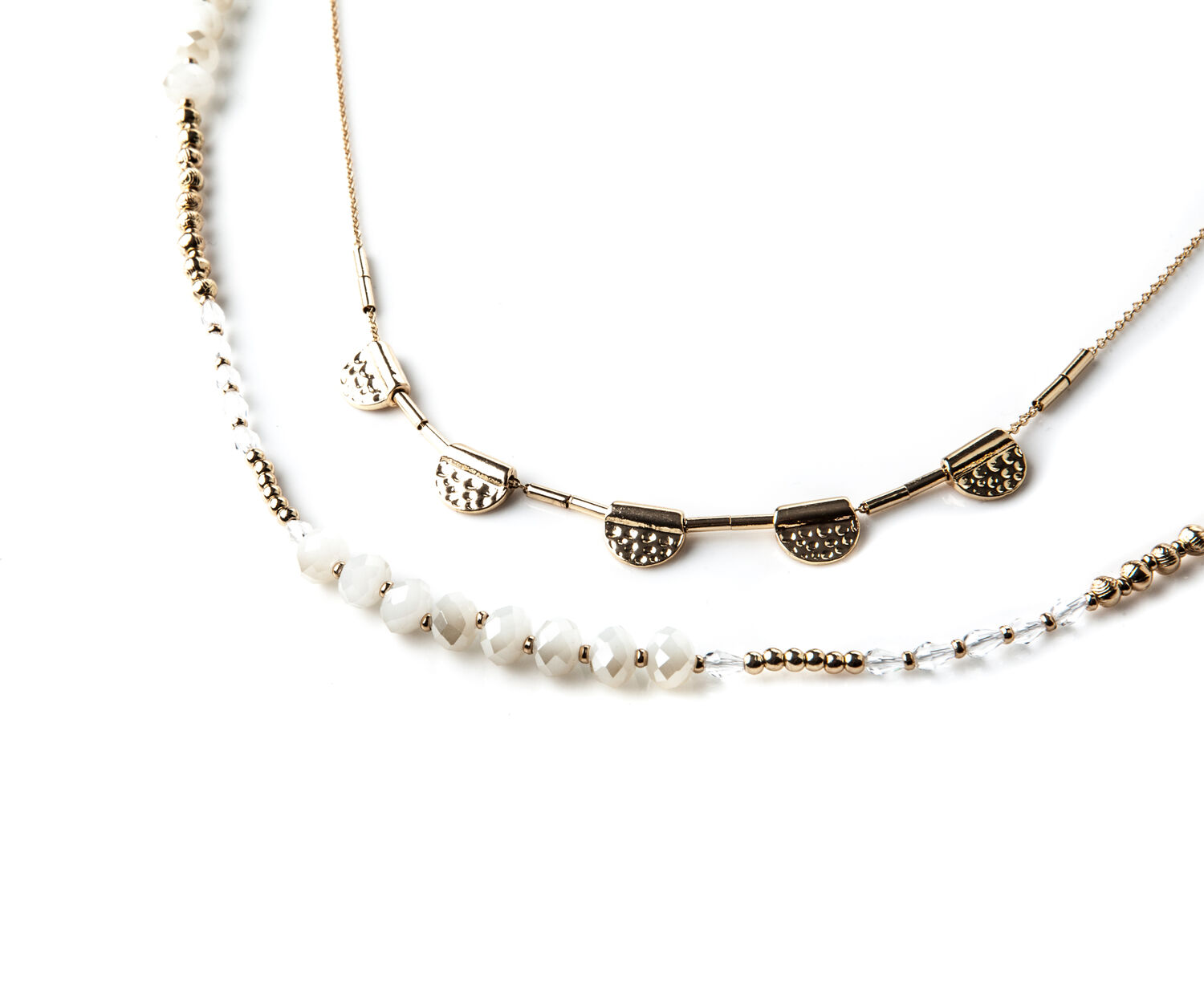 Oasis, BEADED LAYERED NECKLACE Gold 1