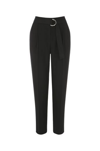 Oasis, LUXE UTILITY TROUSER Black 0