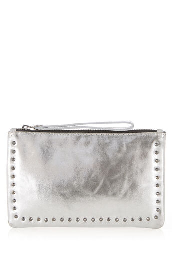 Oasis, STUDDED LILY PURSE Silver 0