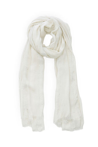 Oasis, Sequin Scarf White 0