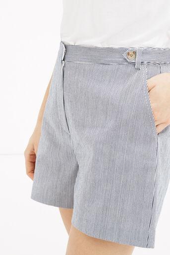 Oasis, Ticking Stripe Short Multi Blue 4