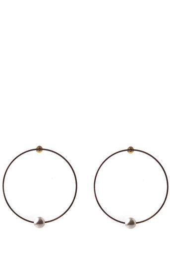 Oasis, PEARLY DROP HOOPS Mother Of Pearl 0