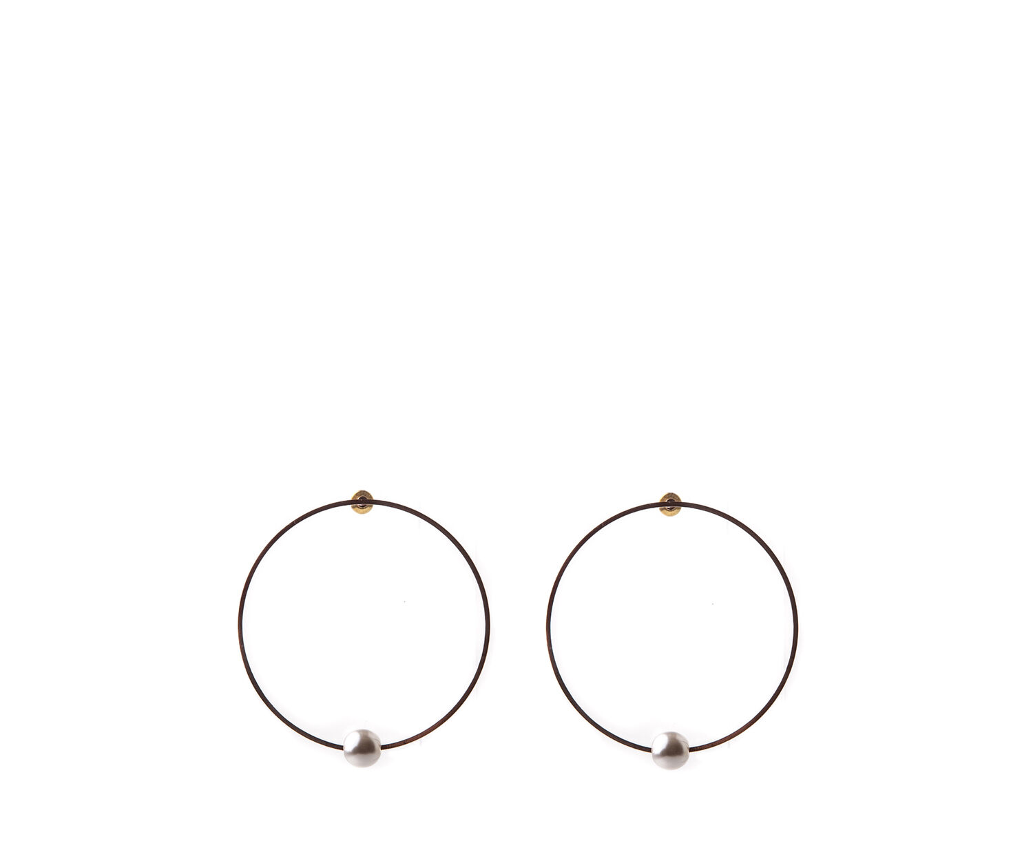 Oasis, PEARLY DROP HOOPS Mother Of Pearl 1