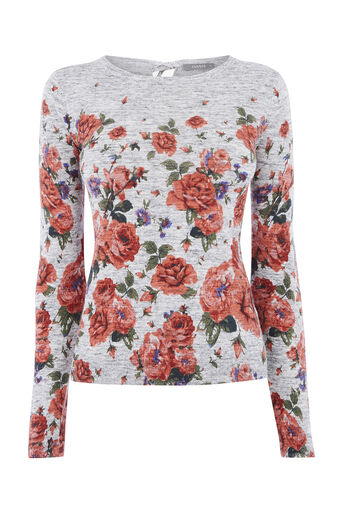 Oasis, UTILITY BLOOM PRINT JUMPER Mid Grey 0