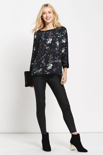 Oasis, Forest butterfly front top Navy 2