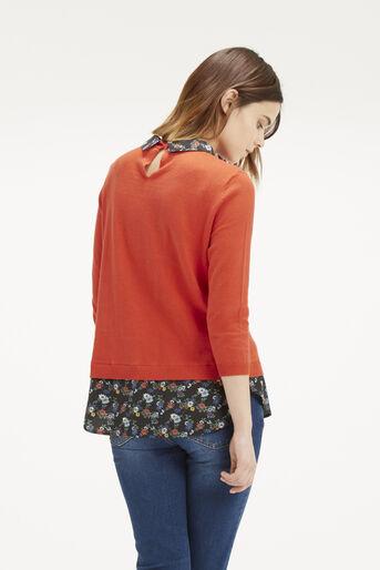Oasis, Edie Print 2 in 1 Jumper Mid Orange 3