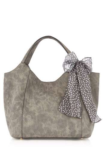 Oasis, MYA SLOUCH SCARF TOTE Mid Grey 0