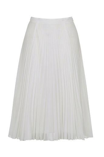 Oasis, Pleated Midi Skirt Off White 0