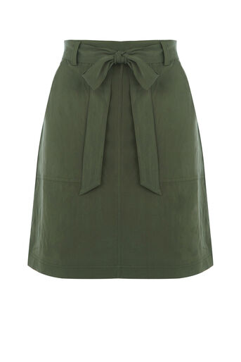 Oasis, Patch pocket utility skirt Khaki 0