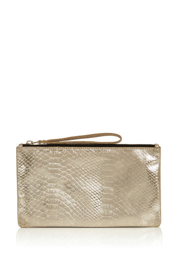 Oasis, LEATHER LILY SNAKE PURSE Gold 0