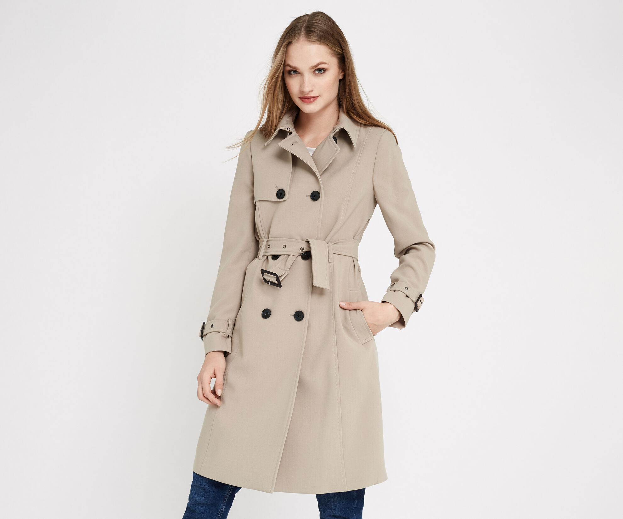 Oasis, BELTED TRENCH COAT Light Neutral 1