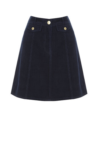 Oasis, Cord pocket mini skirt Navy 0