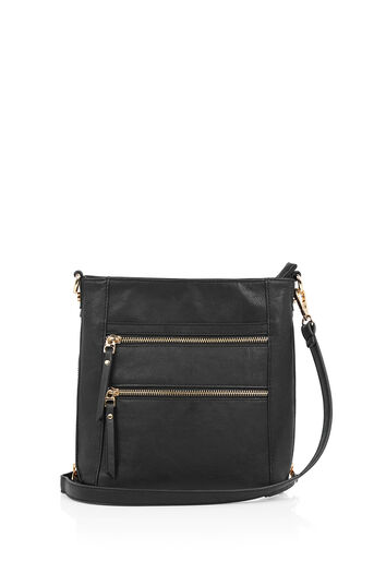 Oasis, Katie Zip Bag Black 0