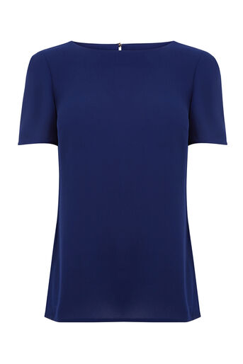 Oasis, Formal T-Shirt Mid Blue 0
