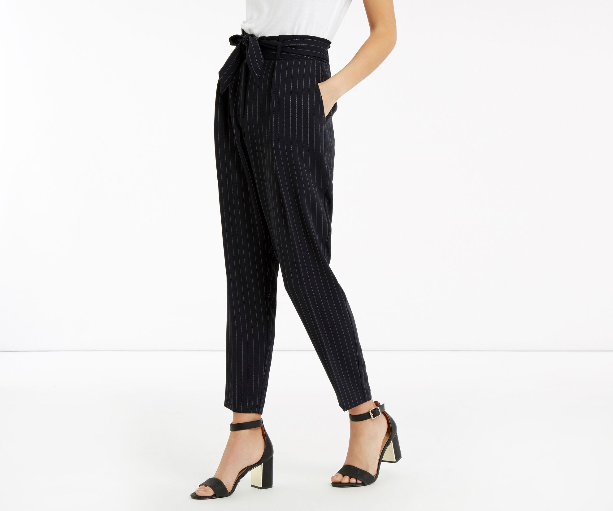 Oasis, Stripe Peg Trouser Multi Blue 1
