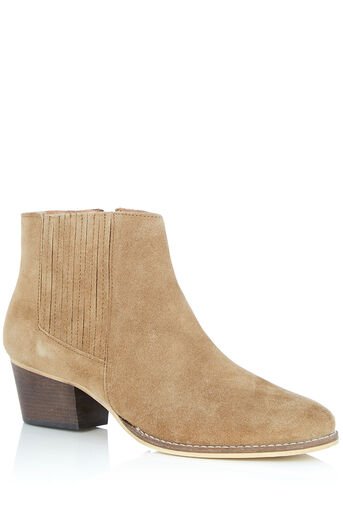 Oasis, DELILAH WESTERN ANKLE BOOT Tan 0