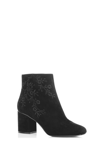 Oasis, EMBROIDERED ANKLE BOOT Black 2