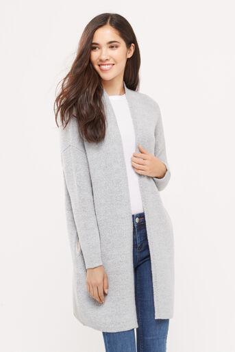 Oasis, 2 tone cosy cardigan Mid Grey 1