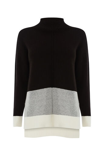 Oasis, Funnel neck colourblock Multi 0