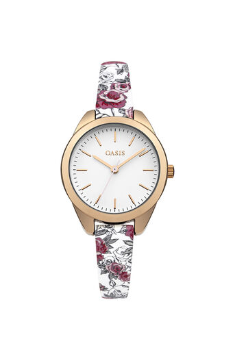 Oasis, Floral Strap Watch Multi Pink 0