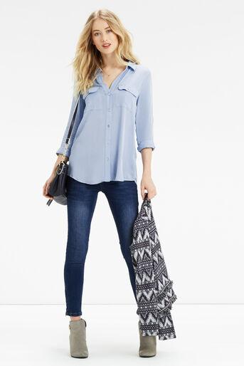 Oasis, Weekend Viscose Shirt Mid Blue 2