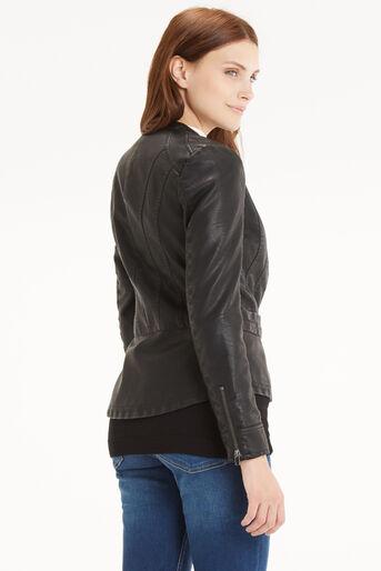 Oasis, Biker Peplum Jacket Black 3